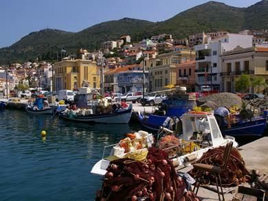 Samos: Villaggio di Vathi