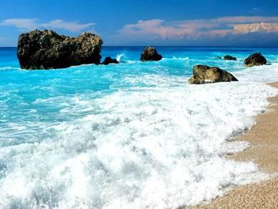 LEFKADA: Spiaggia di Kalamitsi