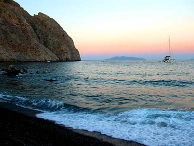 Black Beach Santorini
