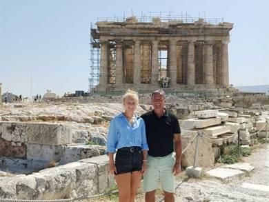 Io e mia figlia siamo appena tornati da un viaggio in Grecia
